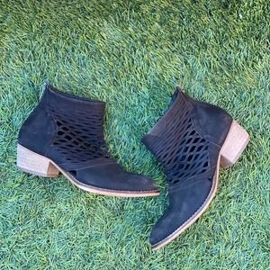 Rebels Cali Leather Cutout Ankle Booties Boots